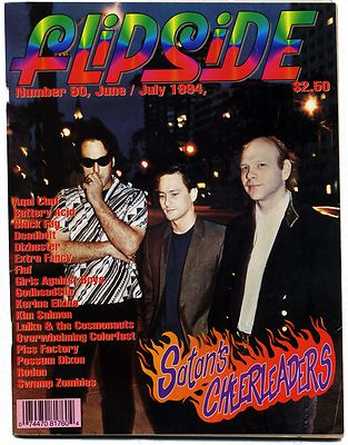 FLIPSIDE Magazine No 90 June/July 1994  Kerine Elkins Godheadsilo Piss Factory Black Fag Swamp Zombies Satans Cheerleaders with  Stanford prison Exper