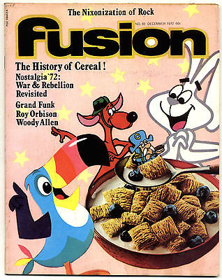 Fusion Magazine No 81 Grand Funk Roy Orbison Woody Allen December 1972