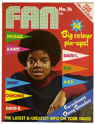 Fan Magazine No 14 October 1973 David Cassidy David Essex David Bowie Randy and Michael Jackson