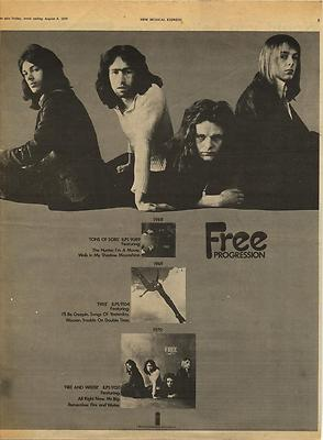 Free Fire & Water Vintage Poster Size Island advert cutting/clipping 1970