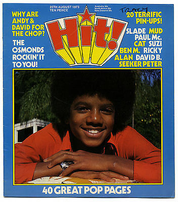 HIT Magazine 25 August 1973 David Bowie Bolan Michael Jackson Osmonds McCartney