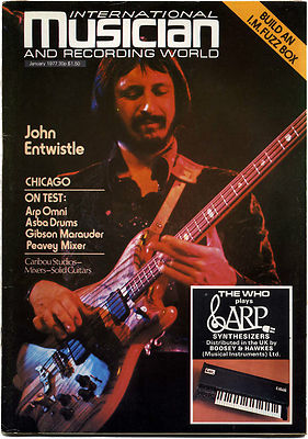 International Musician & Recording World Magazine January 1977 John Entwistle The Who Status Quo