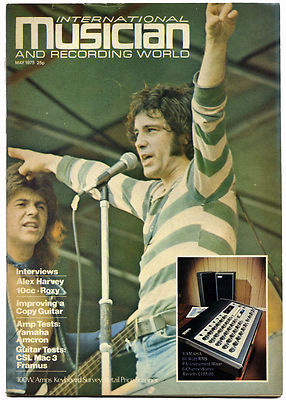 INTERNATIONAL MUSICIAN & RECORDING WORLD Magazine May 1975 Alex Harvey Roxy Music Robin Trower 10cc