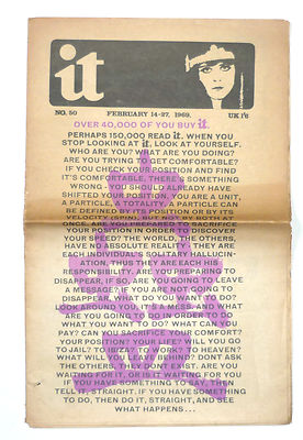 International Times No 50 February 14-27, 1969 Underground Newspaper
