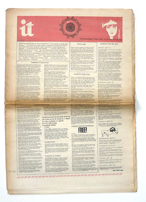International Times No 64 September 12-25, 1969 Apple advert UK Underground press