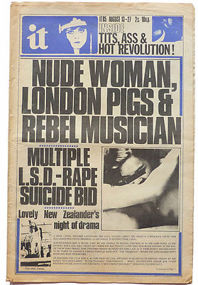 International Times No 85 August 13-27, 1970 John Sinclair. Phun City; Abbie Hoffman; Isle of Wight