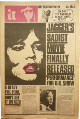 International Times No 87 September 10-24, 1970 Jagger Sadist Movie Performance