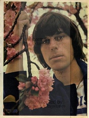 Jeff Beck size approx 10X13 inch pinup poster size press cutting/clipping 1967