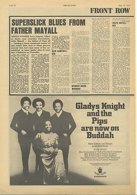 John Mayall SPENCER DAVIS Live review Vintage Music Press article/cutting/clipping 1973