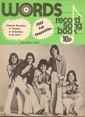 KENNY Record Song Book WORDS Magazine 1976