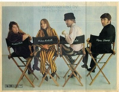 MAMAS AND PAPAS size approx 10X13 inch pinup poster size press cutting/clipping 1966