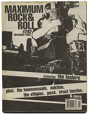 Maximum Rocknroll Magazine No 282 Feelers PESD Effigies Rat City Homosexuals Auktion November 2006