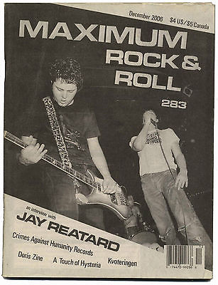 Maximum Rocknroll Magazine No 283 The Retards Jay Reatard Kvoteringen Touch Hysteria December 2006
