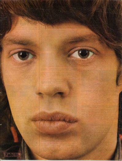 Mick Jagger approx 10X13 inch pinup poster size press cutting/clipping 1966 Original