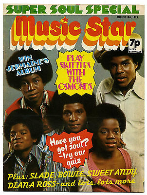 MUSIC STAR Magazine 18 August 1973 David Bowie Sweet Osmonds Michael Jackson 5 David Cassidy