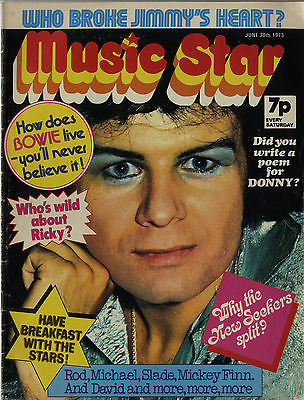 MUSIC STAR Magazine 30 June 1973 Slade David Bowie Marc Bolan Mickey Finn T Rex Michael Jackson 5