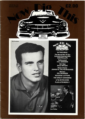 NOW DIG THIS Magazine Issue No 84 Sam Phillips Del Shannon Hal Goodson Dale Wright