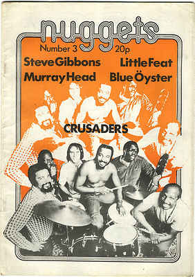 Nuggets Magazine No 3 Little Feat Murray Head Blue Oyster Cult Steve Gibbons Soft Machine Crusaders