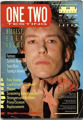 One Two Testing Magazine July-August 1986 Primal Scream Bill Laswell Psychedelic Furs