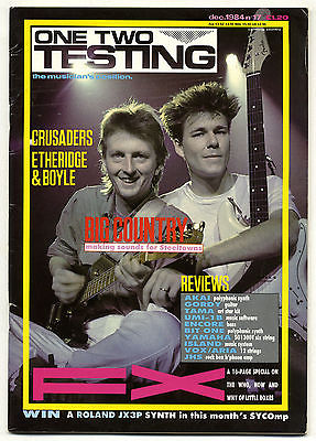 One Two Testing Magazine December 1984 Brian Eno SPK Big Country John Etheridge Gary Boyle
