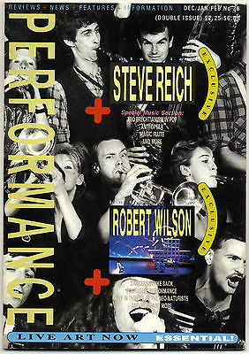 PERFORMANCE 38 December/January 1984/85 Steve Reich interview Robert Wilson interview