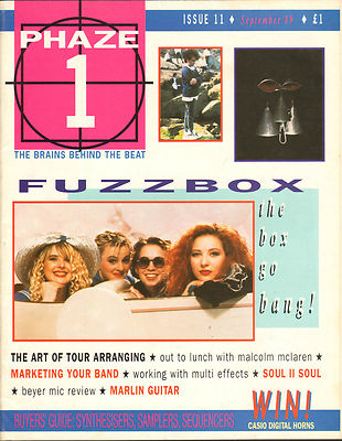 Phaze 1 Magazine September 1989 Malcolm McLaren The Cure Momus Fuzzbox Soul II Soul