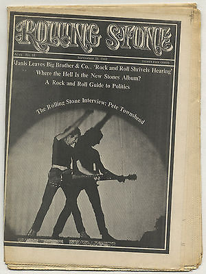 Rolling Stone Magazine No 18, 28 September 1968 Pete Townshend Who Janis Joplin Rolling Stones