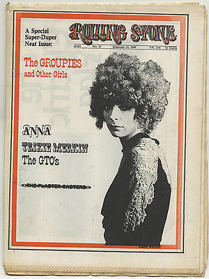 Rolling Stone Magazine No 27 February 15 1969 Groupies GTOs Plaster Casters Anna Trixie Merkin