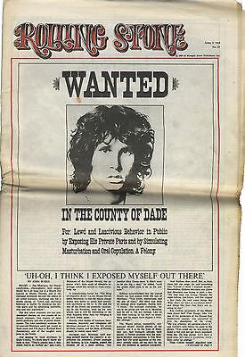 Rolling Stone Magazine No 30, 5 April 1969 Jim Morrison Doors American Revolution