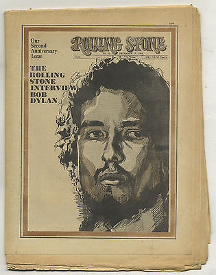 Rolling Stone Magazine No 47, 15 December 1969 Bob Dylan interview special 16 pages of Dylan