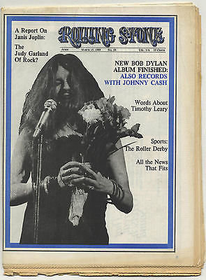 Rolling Stone Magazine No 29, 15 March 1969 Janis Joplin Incredible String Band Timothy Leary