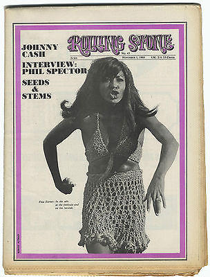 Rolling Stone Magazine No 45, 1 November 1969 Phil Spector An Arbor Blues festival Johnny Cash