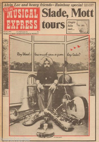 Roy Wood Poster Size cover cutting/clipping 1974
