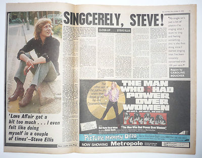 STEVE ELLIS Interview Vintage Music Press Article/cutting/clipping 1970