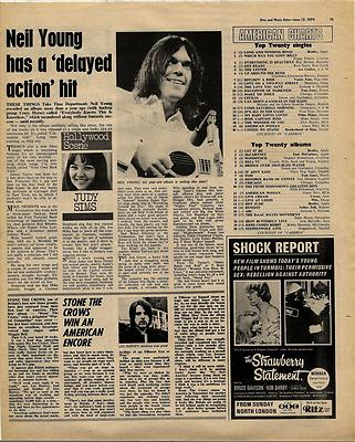 STONE THE CROWS Vintage Music Press article/cutting/clipping 1970