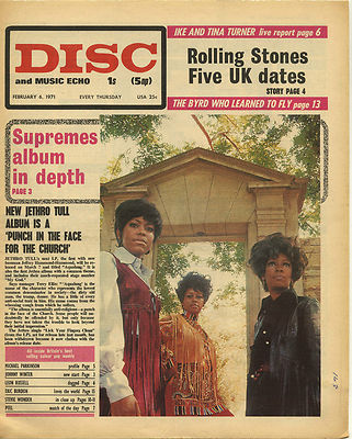 SUPREMES Disc Cover Original Vintage music Press cutting/clipping 1971
