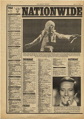 Sweet BRIAN CONNOLLY Vintage Music Press Article/cutting/clipping 1974