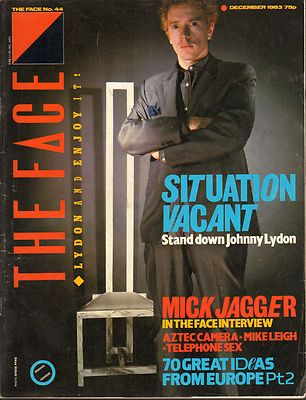 The Face Magazine No 44 December 1983 Mike Leigh Mick Jagger Aztec Camera John Lydon