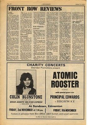 ATOMIC ROOSTER ad FAUST article A3 Size press advert cutting/clipping 1973