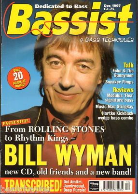 Bassist Magazine December 1997 Bill Wyman Echo & Bunnymen Flea Chilli Peppers