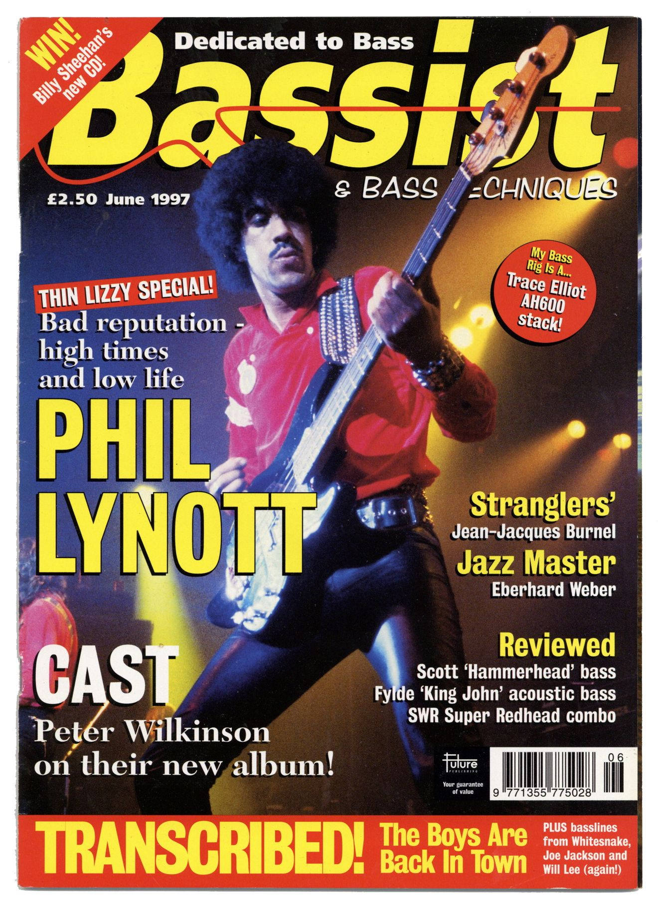 Bassist Magazine June 1997 Thin Lizzy Phil Lynott JJ Burnel of Stranglers Cast