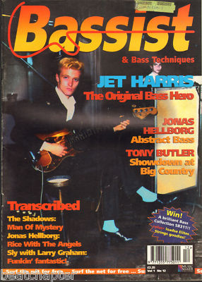 Bassist Magazine Vol 1 No 12 Oct 1995 Jet Harris Shadows