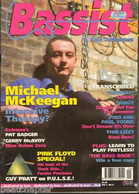 Bassist Magazine Vol 1 No 9 Jul 1995 Michael McKeegan of Therapy