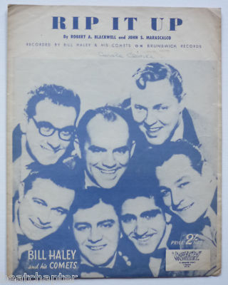 BILL HALEY Rip it up Rare Vintage Sheet Music