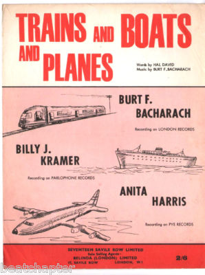 BILLY J KRAMER Trains Boats & Planes Vintage Sheet Music