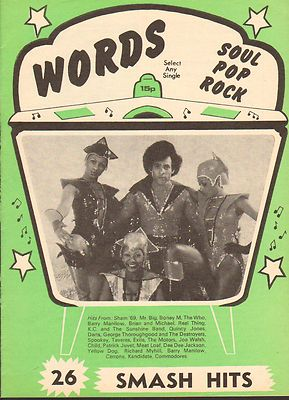 BONEY M Record Song Book WORDS Magazine Vintage Back Issue 1978