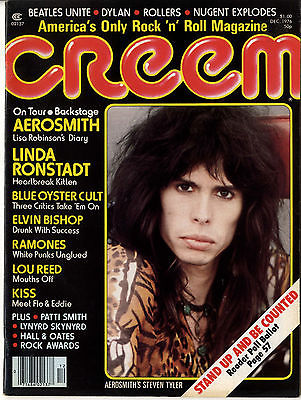 Creem Magazine December 1976 Beatles Bob Dylan Blue Oyster Cult Blondie Ramones Aerosmith Lou Reed