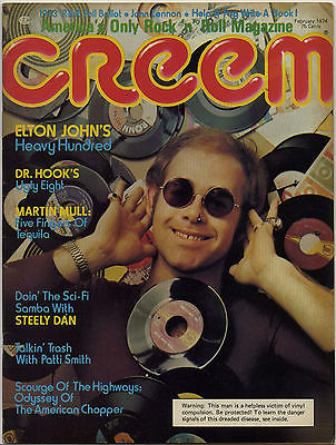 Creem Magazine February 1974 Patti Smith Martin Mull Dr Hook Steely Dan Elton John Lennon The Band