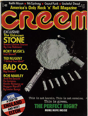 Creem Magazine June 1976 Sex Pistols Wayne County Bob Marley Roxy Music Keith Moon Dr. Feelgood