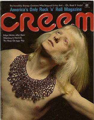 Creem Magazine March 1973 Iggy Pop Stooges Edgar Winter Incredibly Strange Creatures who